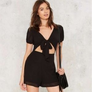 Nasty Gal Dresses - Front Tie Cut-out Romper